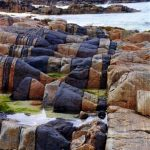 Hosta Beach rock formations - North Uist, Outer Hebrides, Scotland.
