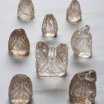 A series of 11th-century crystal chess pieces from the Museo da Catedral in Ourense, Spain, which have never before left the cathedral !